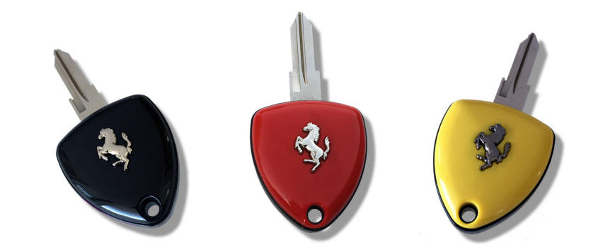 Ferrari keys in three colors